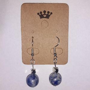 Healing Blue Spot Jasper Hook Earrings